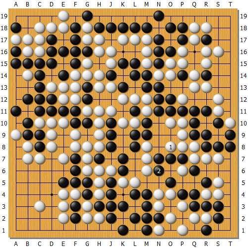 变革图1:实战柯洁挑选在本图白1苟是最庞大的,黑2猴是此际独一破解之法。