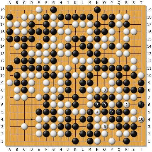 变革图4:实战井山263如在本图1挤是部分最强应对,白棋虽仍然可以出棋,但仅仅是复原了变革图2的变革。