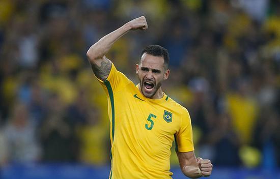 奥古斯托在巴西国家队。东方ic图