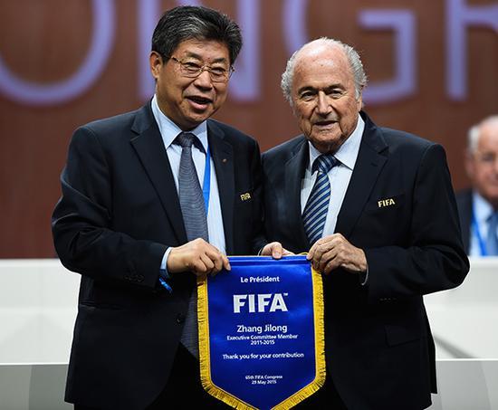 2015年,第65届国际足联大选举行,张吉龙卸任FIFA执委。视觉中国 资料