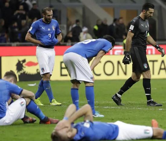意大利足球經歷了半個世紀以來的低谷