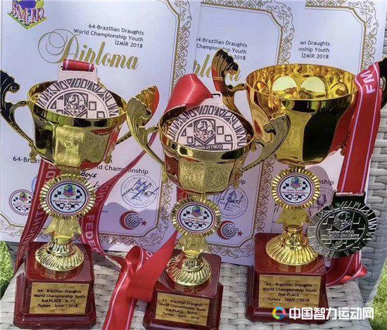 2018年世界青少年国际跳棋锦标赛(64格)比赛上的中国小将收获颇丰
