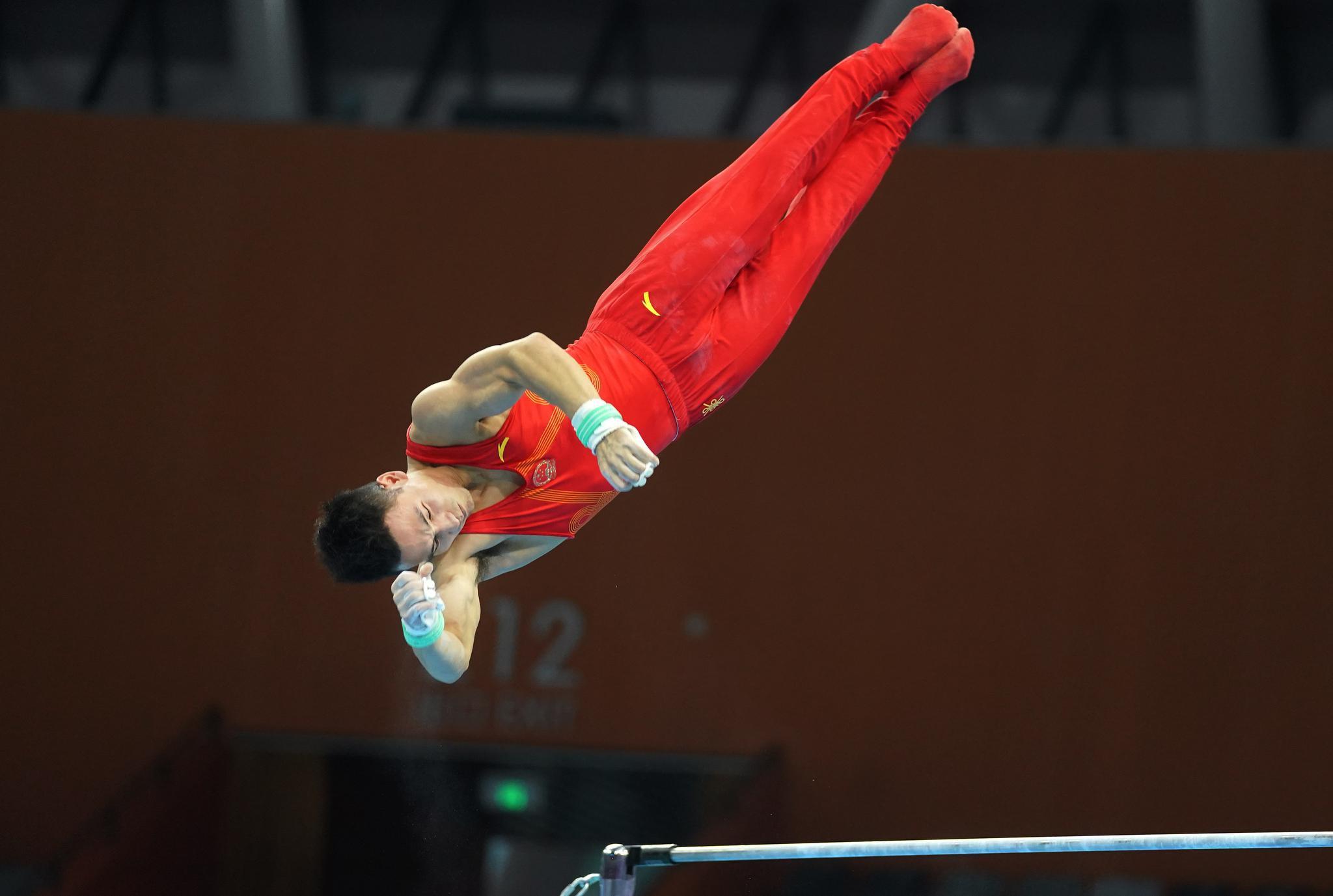 中国体操队以赛测练 强化体能备战东京奥运会