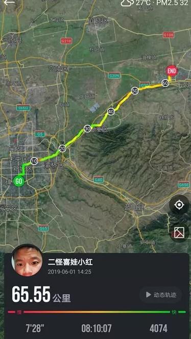 跑步路线图