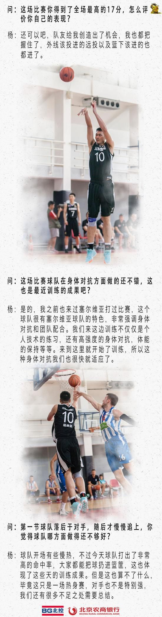 北控男篮海外集训赢首胜 杨庚霖17分王征15分