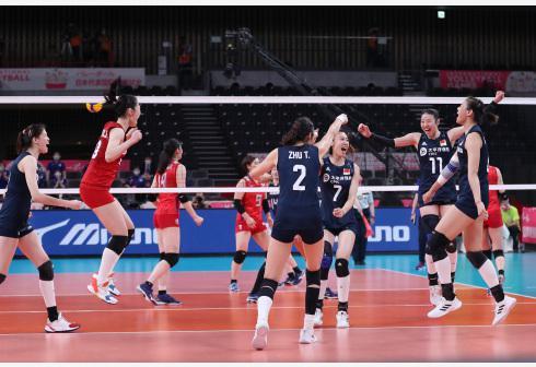 中国女排测试赛演练阵容摸底对手 日本队进步明显