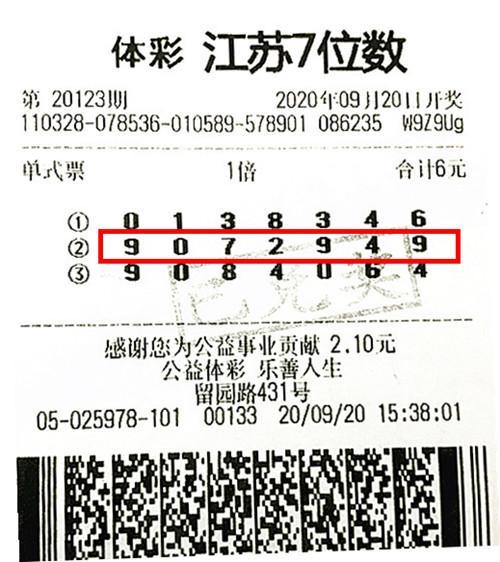 退休阿姨6元中体彩500万 兑奖时直呼真是奇迹-票