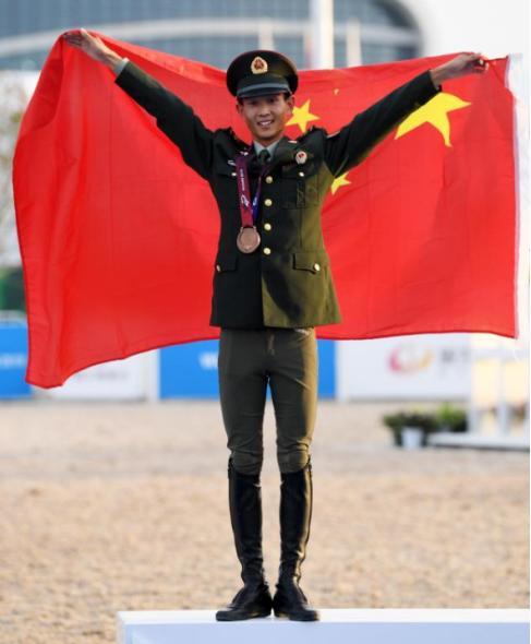 历史性突破!军运会首枚奖牌!世界马术大赛中的第一枚奖牌