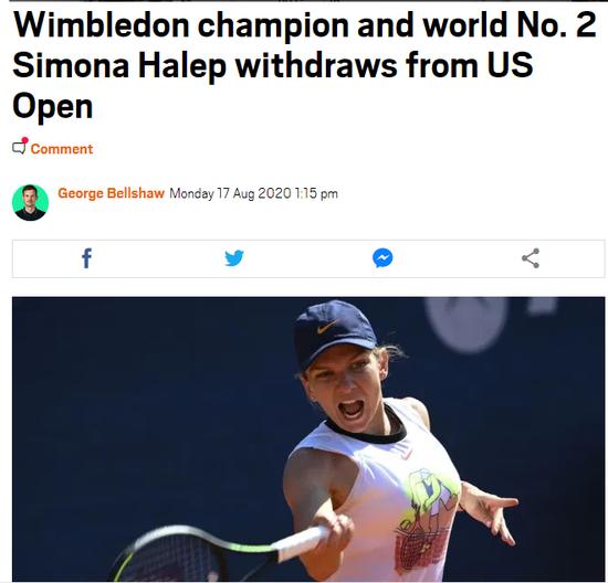 卫冕冠军缺席+前八6人退赛 美网惨变美国全运会