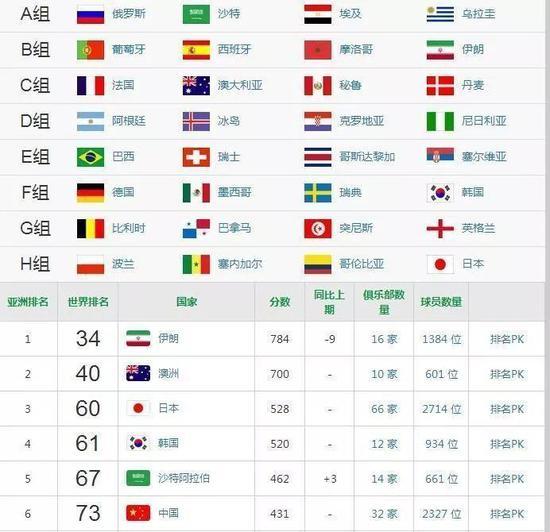 亚洲队世界杯前景分析:欧洲队是道坎 差距在拉大