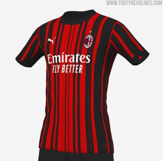 AC米兰下赛季球衣设计方案猜想:可能采用意外设计
