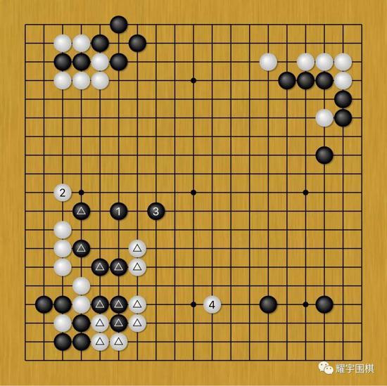 图2:黑1跳补自身弱点,属于正常分寸。