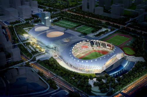 半程马拉松尽头:深圳湾体育中间
