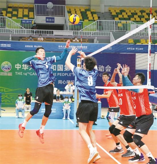 全运决赛阶段领跑群雄 上海男排距目标越来越近