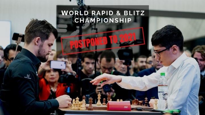 世界快棋超快棋锦标赛延期 尽可能在21年春天举行