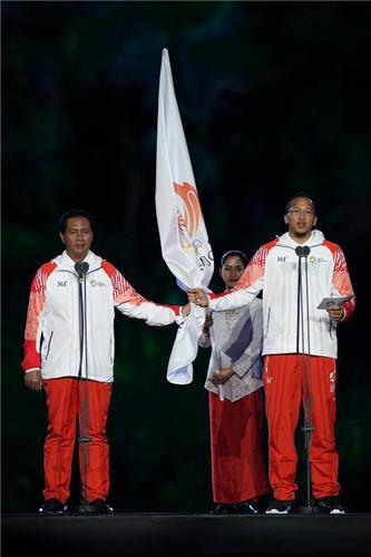 雅加达亚运会运动员代表及裁判员代表宣誓
