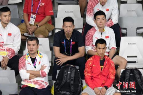 图为中国选手林丹现身赛场。中新社记者 刘关关 摄