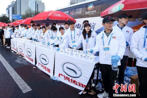 北京半马补给站。图片来源:赛事主办方