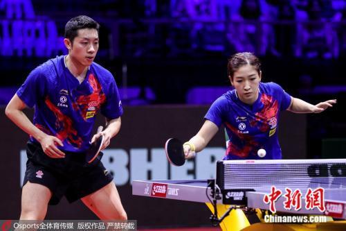 许昕/刘诗雯在比赛中。图片来源:Osports全体育图片社