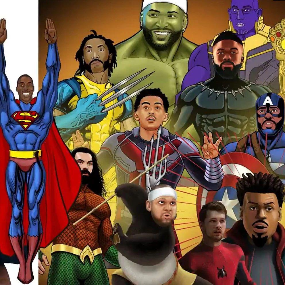 霍华德为球员们设计的超级英雄形象