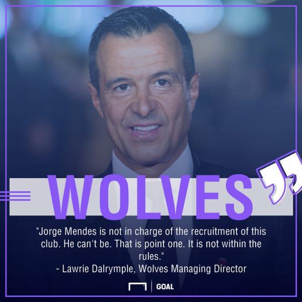 门德斯和狼队的关系引发了英国足坛的争论。