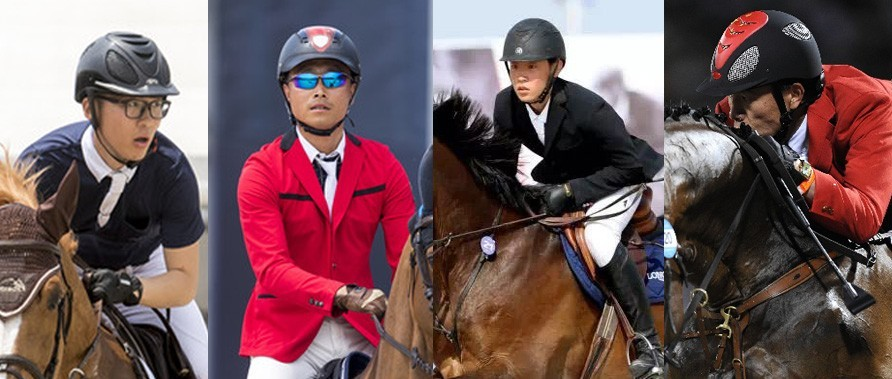 2019上海浪琴环球马术冠军赛参赛的中国骑手