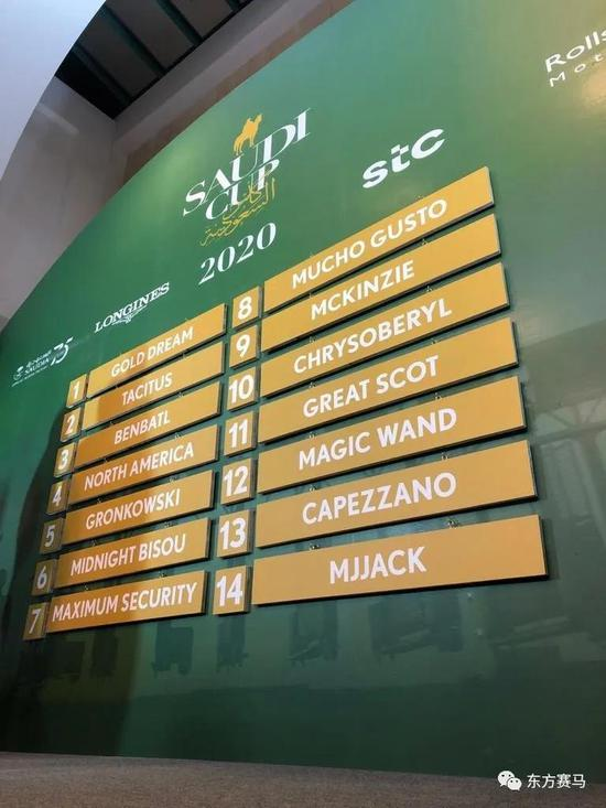 图/Saudi Cup,沙特杯闸位