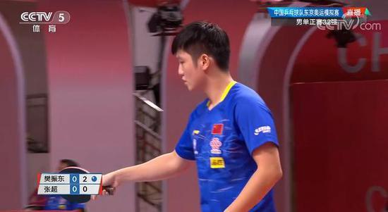 国乒东奥模拟赛 樊振东4-0张超晋级男单16强