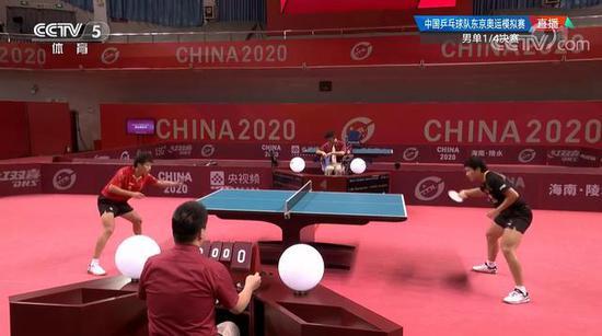 梁靖崑4-2淘汰林高远 国乒奥运模拟赛晋级四强