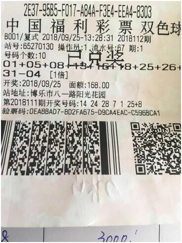 生意男百元斩获双色球615万:改善自家生活-票