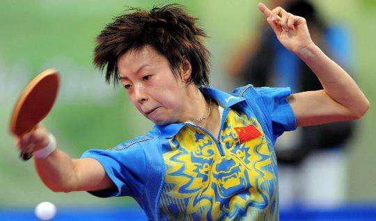 中国女乒的大魔王级选手:邓亚萍、王楠、张怡宁 (从上至下)