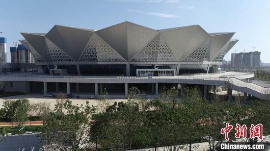 第十四届全运会主场馆西安奥体中心竣工交付