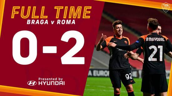 欧联-哲科马约拉尔破门 罗马客场2-0击败布拉加