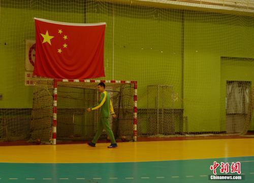 北京手球隊隊員。邢蕊 攝