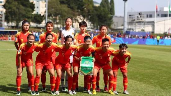 中国U20女足对阵海地队时的首发阵容