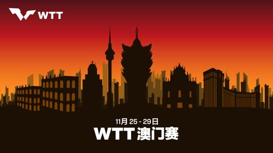 世界乒乓球职业大联盟澳门赛定档 11月25-29日举行