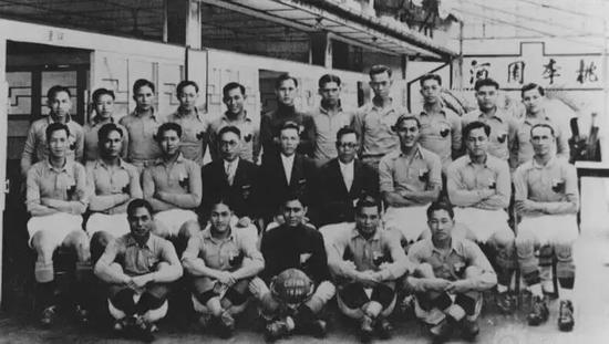 ▲参添1936年奥运会的国足球员相符影,李惠堂和谭咏麟父亲谭江柏都在其中。