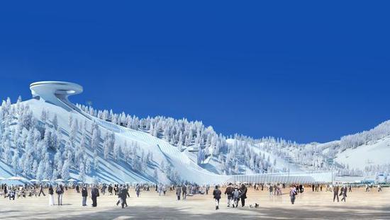 國家跳臺滑雪中心效果圖