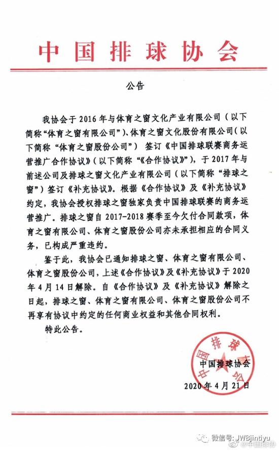 中国排协与排球之窗解约 排超联赛发展何去何从