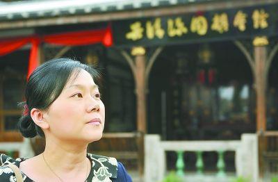 福州棋手张璇在吴清源会馆