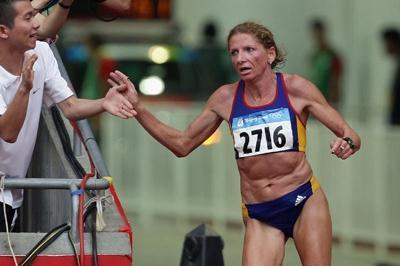 康斯坦丁娜·托梅斯库·迪塔(Constantina Tomescu-Dita)率领女子奥林匹克马拉松比赛进入体育?。℅etty Images)?版权所有