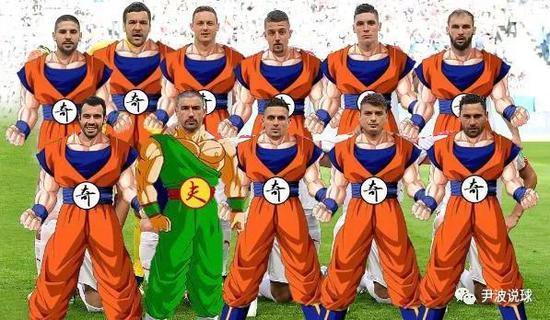 (塞尔维亚的首发11人10名球员都是XXX奇,除了取得进球的队长科拉罗夫)