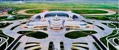 """▲呼和浩特市呼和塔拉""""内蒙古少数民族体育运动中心""""。"""