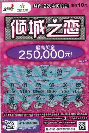 丈夫陪妻买菜途中躲雨刮中体彩25万:解燃眉之急-票