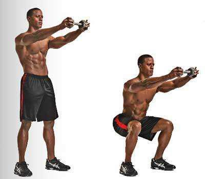 关节灵活性测试:直臂深蹲
