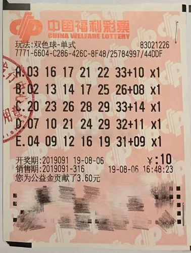 七旬老者10元揽双色球1千万 兑奖时心情很紧张-票