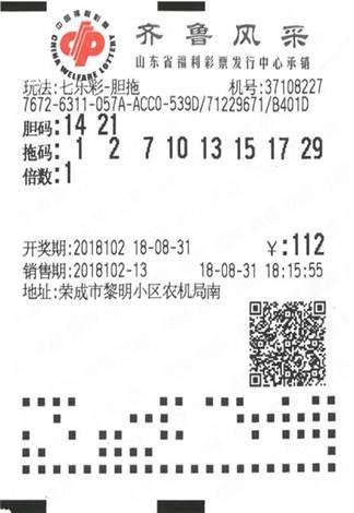 威海彩民112元揽福彩363万:打算买房购车-票