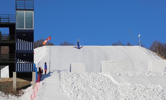 自由式滑雪空中技巧國家隊訓練(圖/黃業)