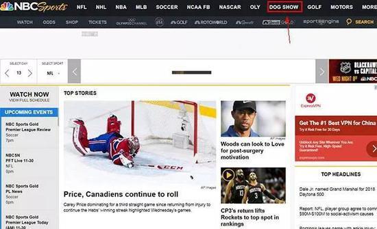 """当然,NBC并不是""""一个人在战斗""""。浏览排名前八的网站会得到了如下结果:"""