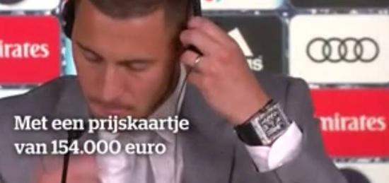 啥叫有钱人!阿扎尔的劳力士超10万欧 表身镶钻36颗
